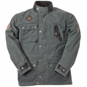 Giacche moto Ride & Sons Escape Waxed Anthracite