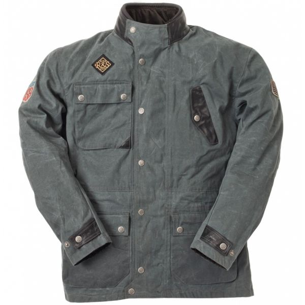 Giacche Moto Lunghe Ride & Sons Escape Waxed Anthracite