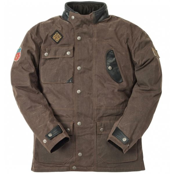 Giacche Moto Lunghe Ride & Sons Escape Waxed Brown