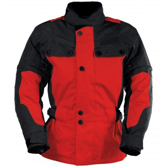 Giacche Moto Lunghe IXS Explorer Jacket II Black Red Kid