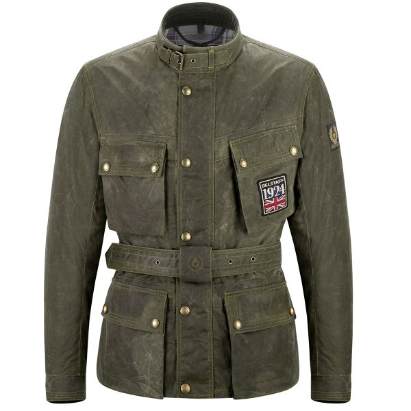 Giacche moto Belstaff Jubilee Trialmaster Soy British Green