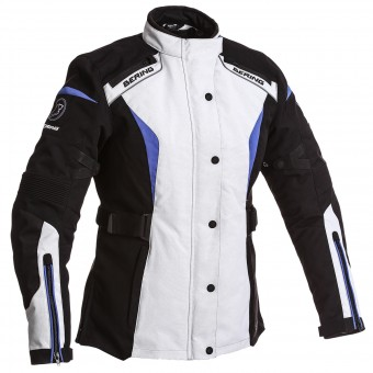 Giacche Moto Lunghe Bering Lady Safari 3 in 1 Black Grey Blue