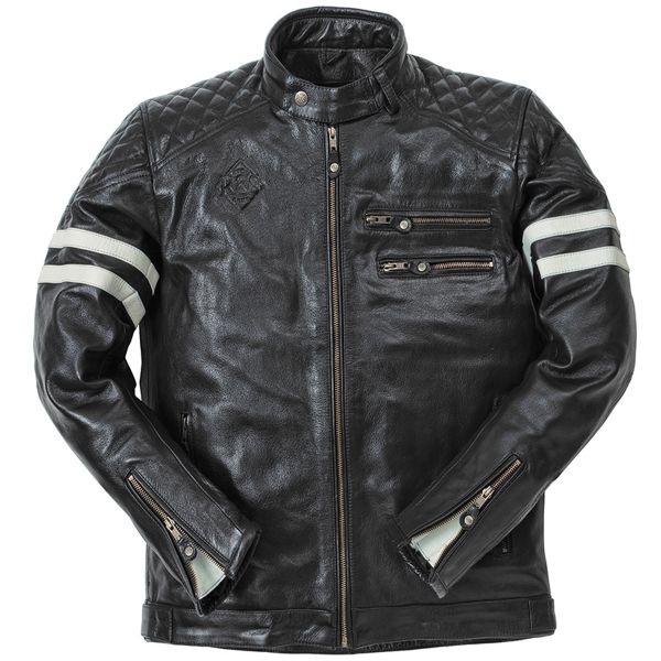Giacche Moto Lunghe Ride & Sons Magnificient Buffalo Skin Black