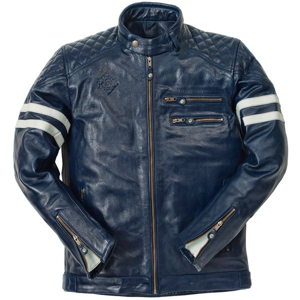 Giacche moto Ride & Sons Magnificient Buffalo Skin Blue