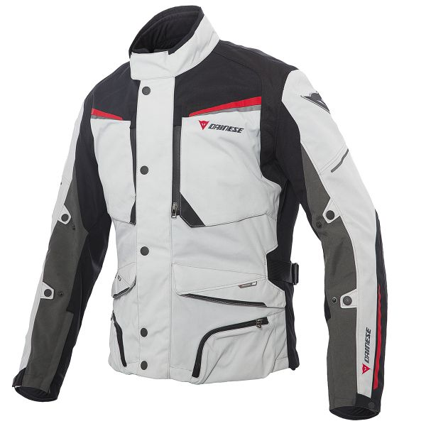 Giacche Moto Lunghe Dainese Sandstorm Gore-Tex Grey Black Red