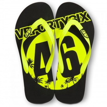 Regali VR 46 Sandals Black Yellow VR46