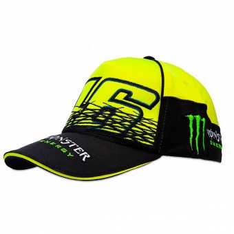 Berretti da baseball moto VR 46 Cap Replica Monster Fluo Yellow VR46