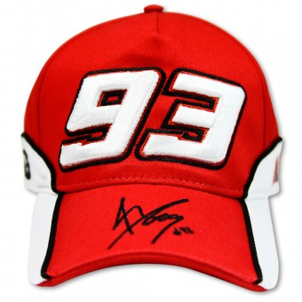 Berretti da baseball moto Marquez 93 Cap 03 Red MM93