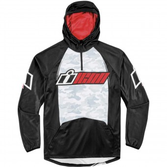 Pullover Moto ICON Single Stack Red