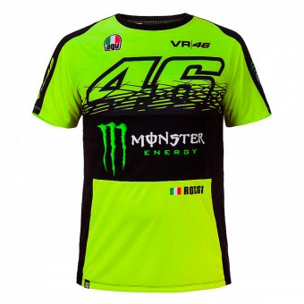 T-Shirt Moto VR 46 T-Shirt Replica Monster Fluo Yellow VR46
