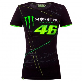 T-Shirt Moto VR 46 T-Shirt Woman Monza Monster Black VR46