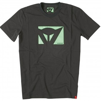 T-Shirt Moto Dainese Color New Black Green Fluo