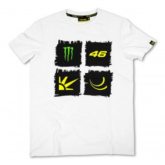 T-Shirt Moto VR 46 Monster White VR46