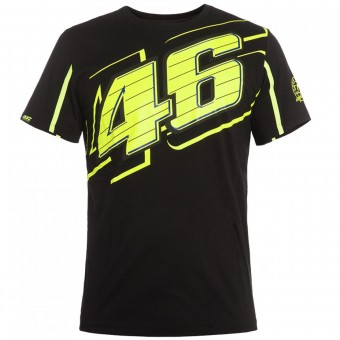 T-Shirt Moto VR 46 T-Shirt Black Yellow VR46