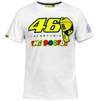 T-Shirt Moto VR 46 T-Shirt White Yellow VR46