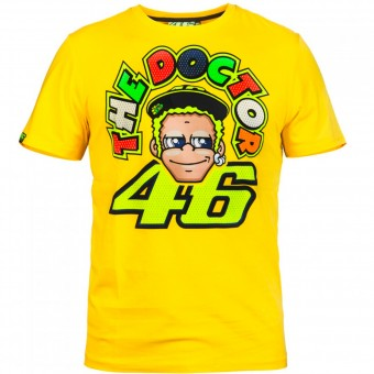 T-Shirt Moto VR 46 T-Shirt Yellow Face VR46