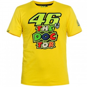 T-Shirt Moto VR 46 T-Shirt Yellow The Doctor VR46