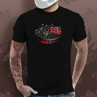 T-Shirt Moto Gaaz The Red Zone (Nero)