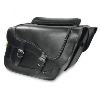 Borse laterali Wille & Max Braided Slant Saddlebags