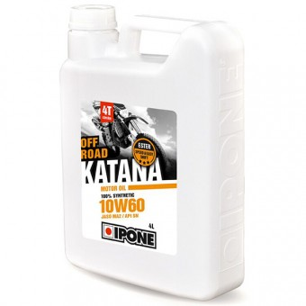 Olio motore IPONE Katana Off Road - 10W60 100 % Synthetic - 4 Litri 4T