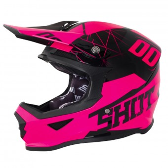 Casque Cross SHOT Furious Spectre Neon Pink