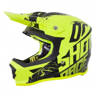 Casque Cross SHOT Furious Venom Neon Yellow