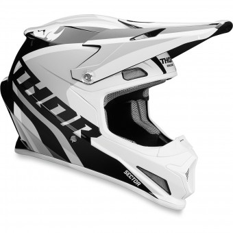 Casque Cross Thor Sector Ricochet White Grey