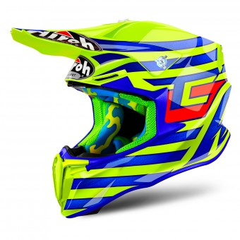 Casque Cross Airoh Twist Cairoli Qatar Yellow