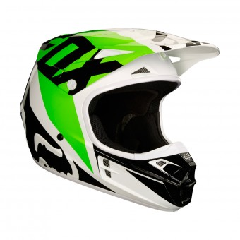 Casque Cross FOX V1 Race Black White Green
