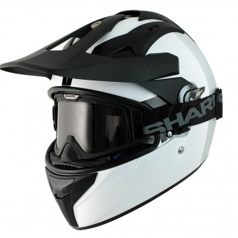 Casque Cross Shark Explore-R Blank WHU