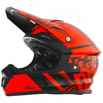 Casque Cross SHOT Furious Claw Neon Orange