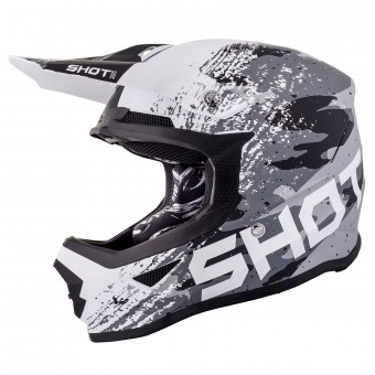 Casque Cross SHOT Furious Counter Nero Bianco Opaco