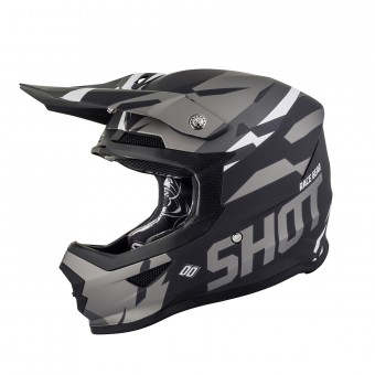 Casque Cross SHOT Furious Score Nero Metal Opaco