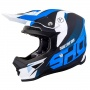 Casque Cross SHOT Furious Ultimate Blu Bianco Opaco