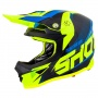 Casque Cross SHOT Furious Ultimate Blu Giallo