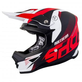 Casque Cross SHOT Furious Ultimate Rosso Opaco