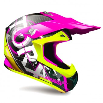 Casque Cross Torx Marvin 3 Eyes Neon Fucsia