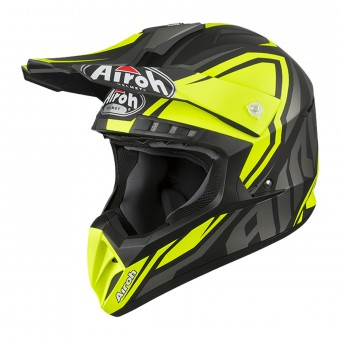 Casque Cross Airoh Switch Impact Giallo Opaco