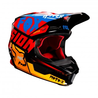 Casque Cross FOX V1 Czar Nero Giallo
