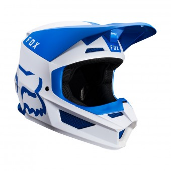 Casque Cross FOX V1 Mata Blu Bianco