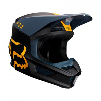 Casque Cross FOX V1 Mata Navy Giallo