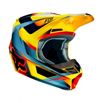 Casque Cross FOX V1 Motif Giallo