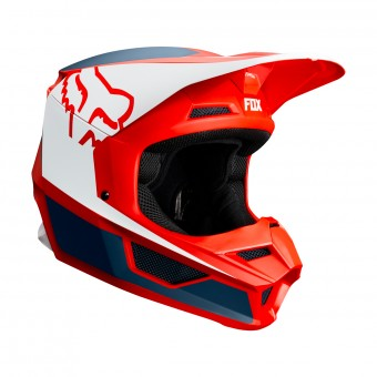Casque Cross FOX V1 Przm Navy Rosso