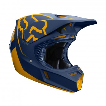 Casque Cross FOX V3 Kila Navy Giallo