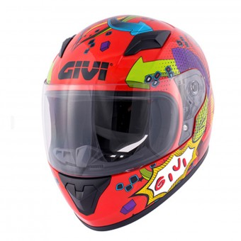 Casque Bambini Givi HJ04 Red Deco