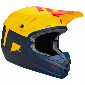 Casque Bambini Thor Sector Level Navy Yellow Bambino