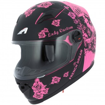 Casque Bambini Astone GT2 Kids Lady Custom Black Pink
