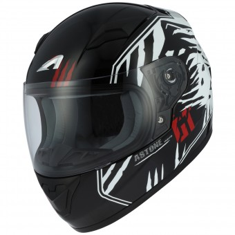Casque Bambini Astone GT2 Kids Predator Black White