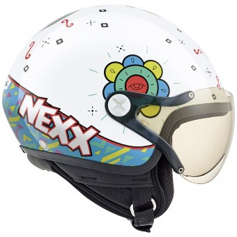 Casque Bambini Nexx X60 Kids Goomy White