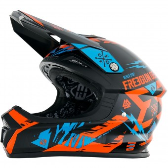 Casque Bambini Freegun XP-4 Trooper Neon Orange Cyan Bambino
